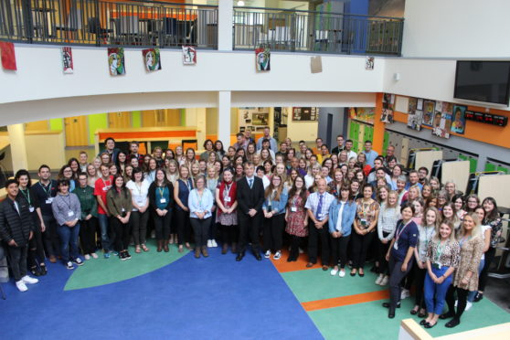 Dr James Vance welcomes the new probabtioners to the teaching scene in Highland