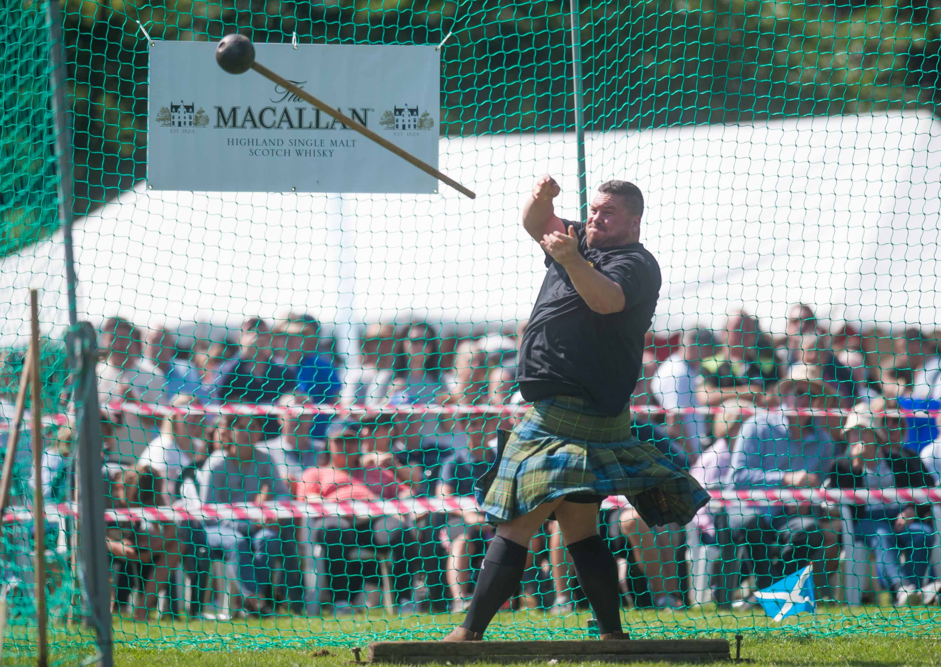 Sinclair Patience taking part in the  heavy hammer.