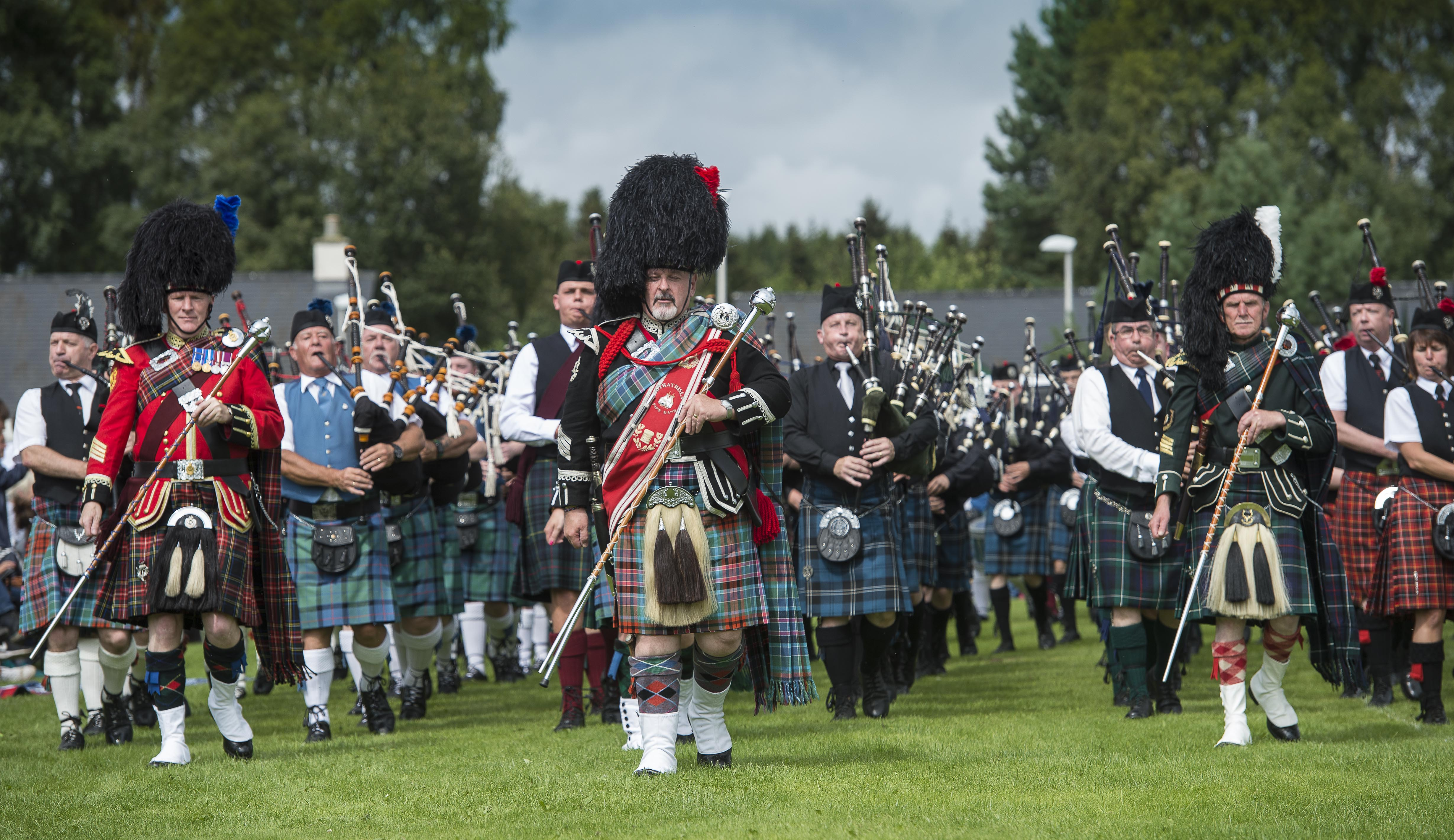 Pipe bands proved popular with the crowd