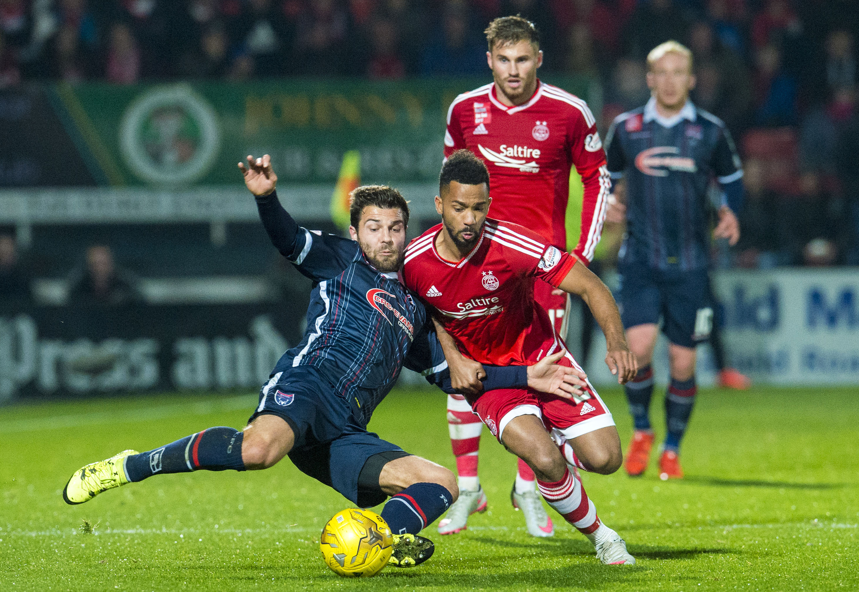 Richard Foster, left, is set to return to Ross County.