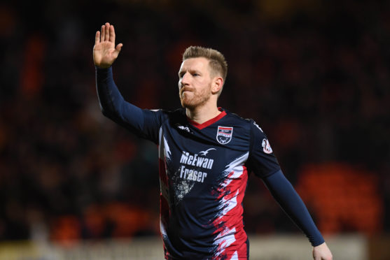 Ross County's Michael Gardyne.