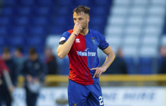 14/05/19 LADBROKES PREMIERSHIP PLAY-OFF SEMI FINAL 1ST LEG INVERNESS CALEDONIAN THISTLE v DUNDEE UNITED TULLOCH CALEDONIAN STADIUM - INVERNESS Inverness Brad mcKay looks dejected at full-time.