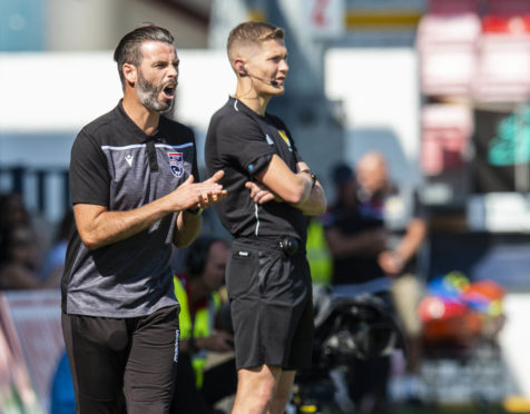 03/08/19 LADBROKES PREMIERSHIP ROSS COUNTY v HAMILTON ACADEMICAL (3-0) GLOBAL ENERGY STADIUM - DINGWALL Ross County co-manager Stuart Kettlewell issues instructions from the sidelines