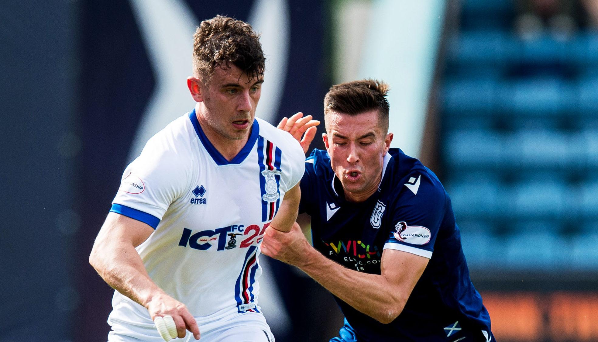 Caley Thistle midfielder Aaron Doran (left).