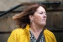 Irene Sheils leaving Elgin Sheriff Court.