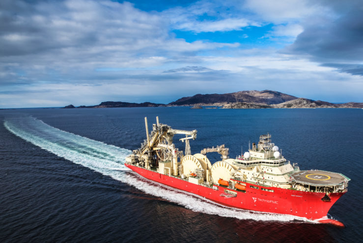 The Deep Energy, TechnipFMC's state-of-the-art pipelay vessel.