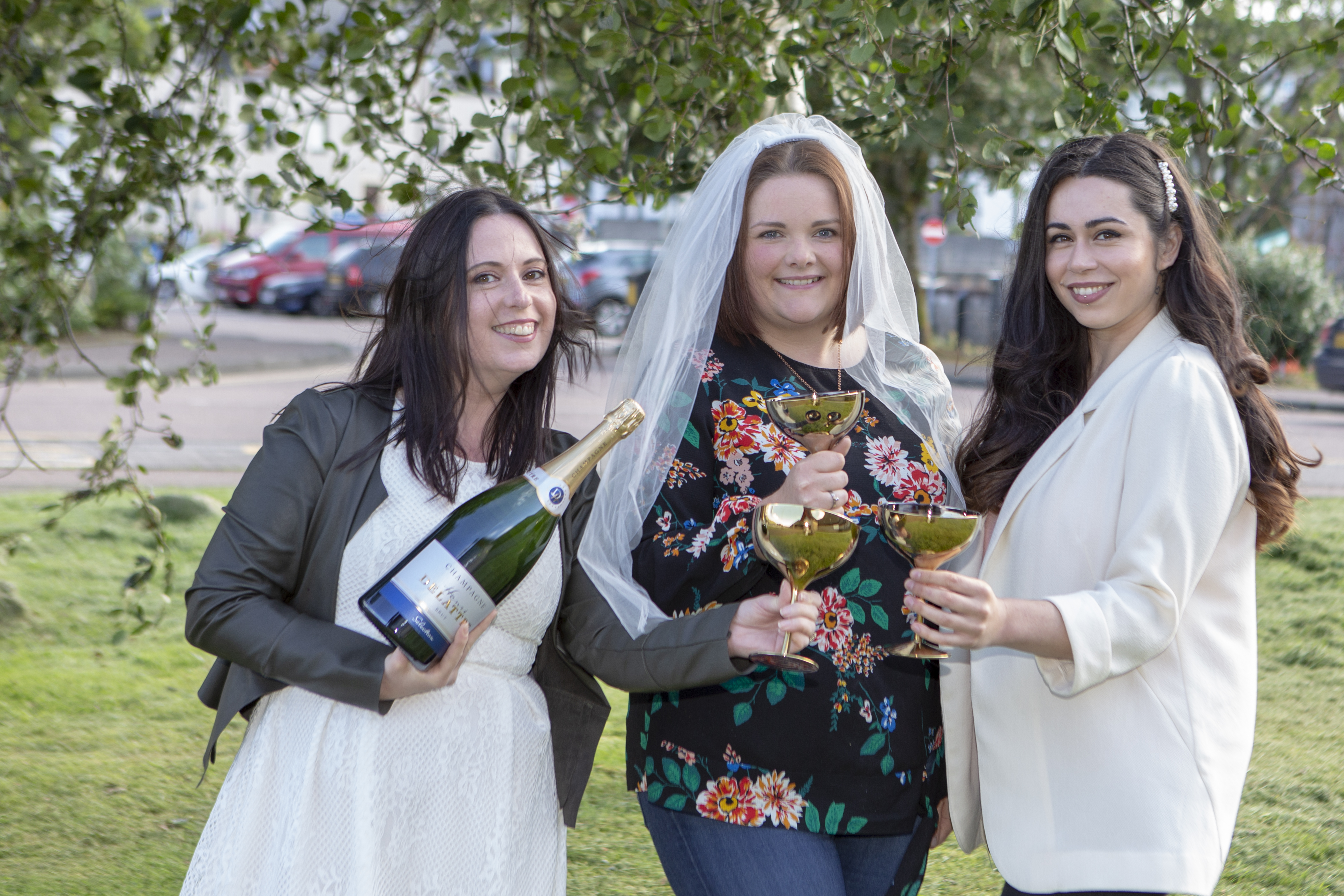 Daneil King, Michelle Purcell and Bonny Watkins launch their Wedding Dress Charity Ball. Kim Ferguson/The Write Image