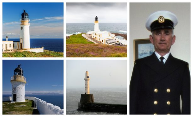 Donald Michael and some of the lighthouses he worked at during his carer.