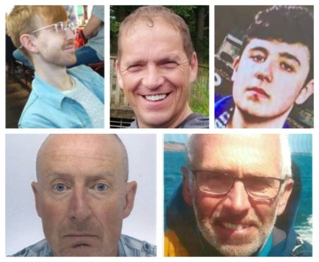 Police supplied photographs of missing people.