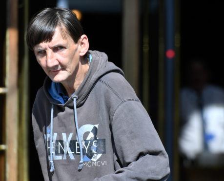 Wayne Florence leaving Aberdeen Sheriff Court.