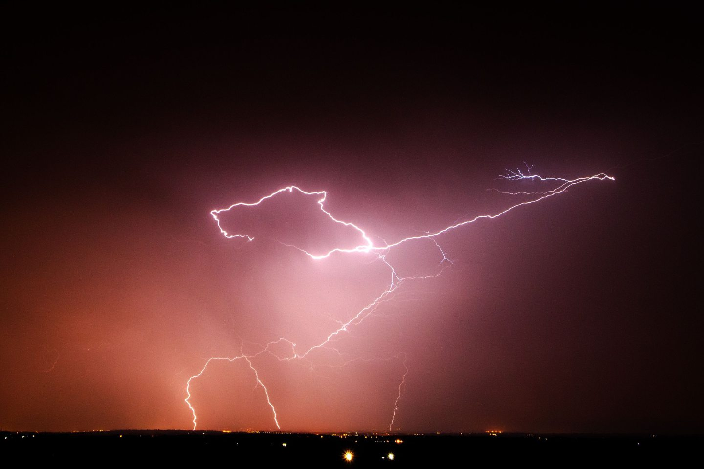 Lightning strikes over the Vale of Belvoir, Leicestershire as the UK is now braced for torrential downpours and storms that will could cause flash flooding across large parts of the country. PRESS ASSOCIATION Photo. Picture date: Saturday July 19, 2014. See PA story Weather Heat. Photo credit should read: Neil Squires/PA Wire