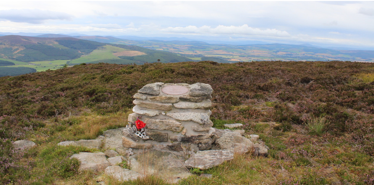 The memorial on Bennachie