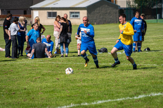An action shot from the weekend's match