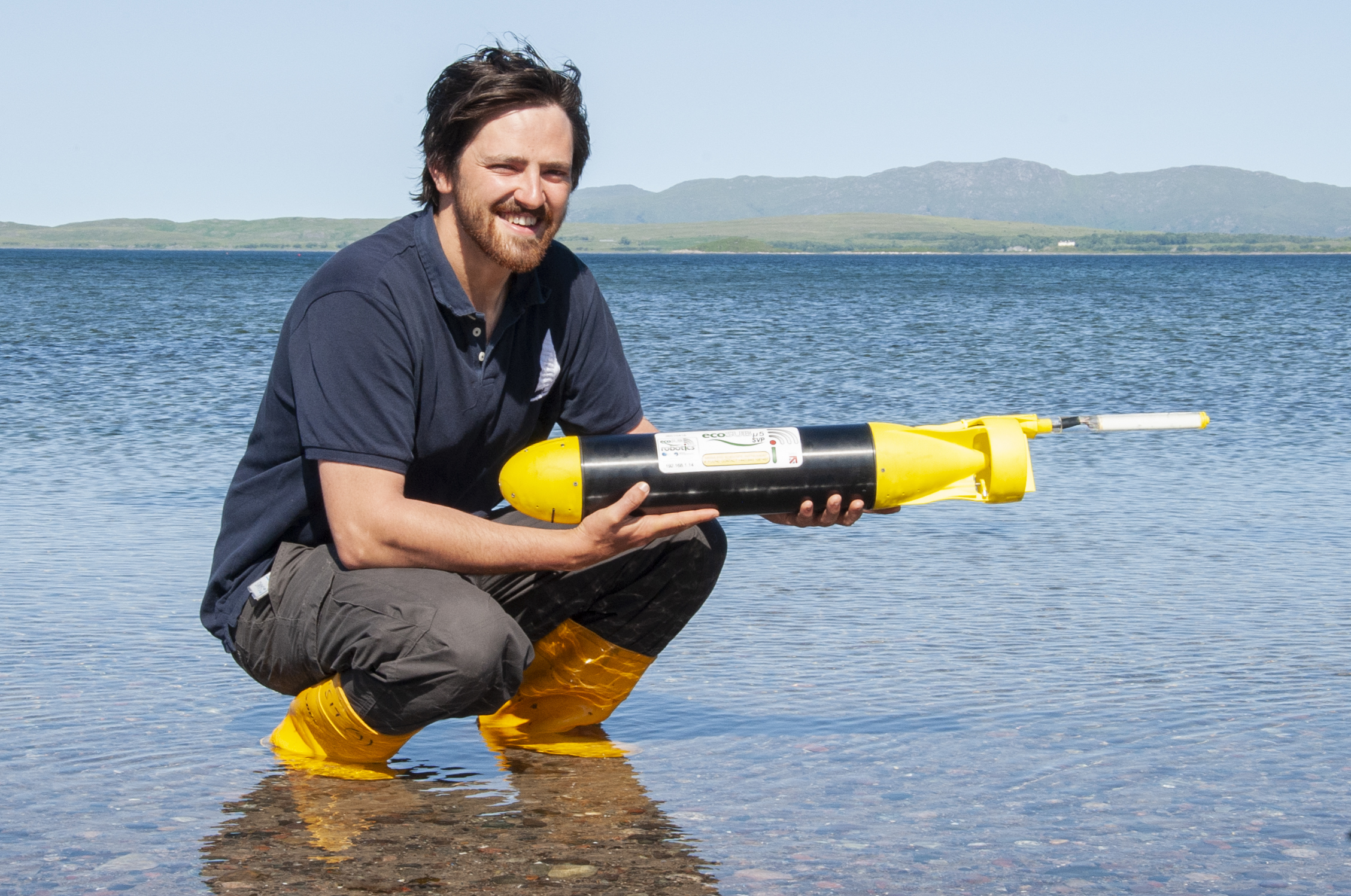 -University of the Highlands and Islands PhD student James Coogan will be deploying the ecoSUB on its mission into a hostile Arctic environment