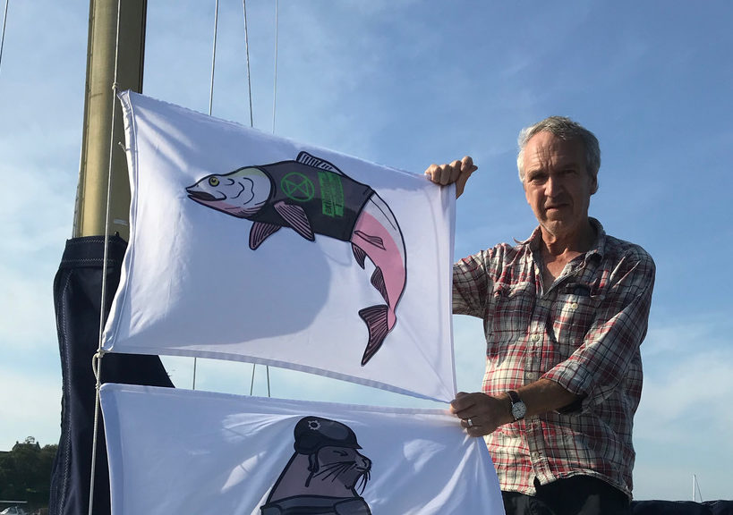 Campaigner Andrew Holder of Extinction Rebellion Oban who will be joining the protest at the weekend.