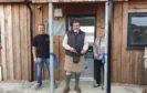 Viscount Thurso with Thurso Rotary Club president Carol Rosie and North Shore Surf Club chairman, Jason Simpson.