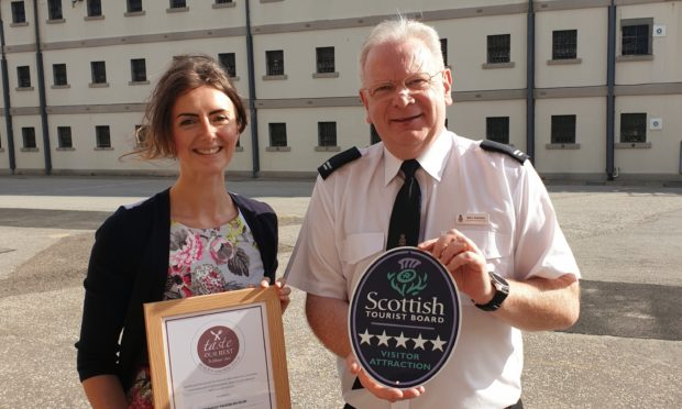 Jo Robinson, VisitScotland regional director, and Alex Geddes operations manager at Peterhead Prison Museum
