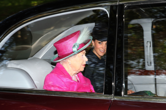 The Queen was joined by senior royals at Crathie Kirk