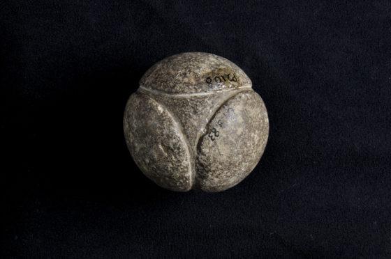 A stone ball.