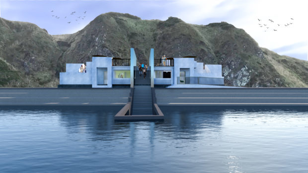 One of the designs produced by Nichaela Richardson on what Tarlair could look like if transformed