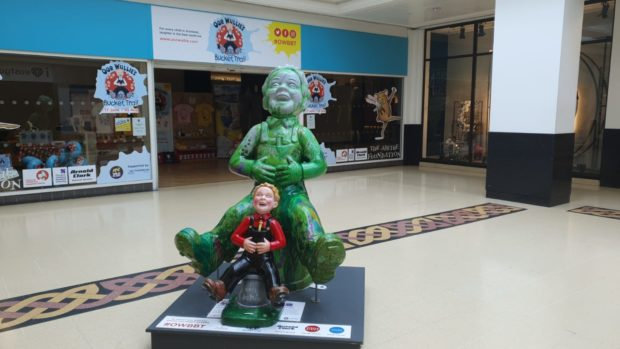 I love ARCHIE will be found in the Oor Wullie's BIG Bucket Trail shop in the Eastgate Centre until he is requested by local groups.