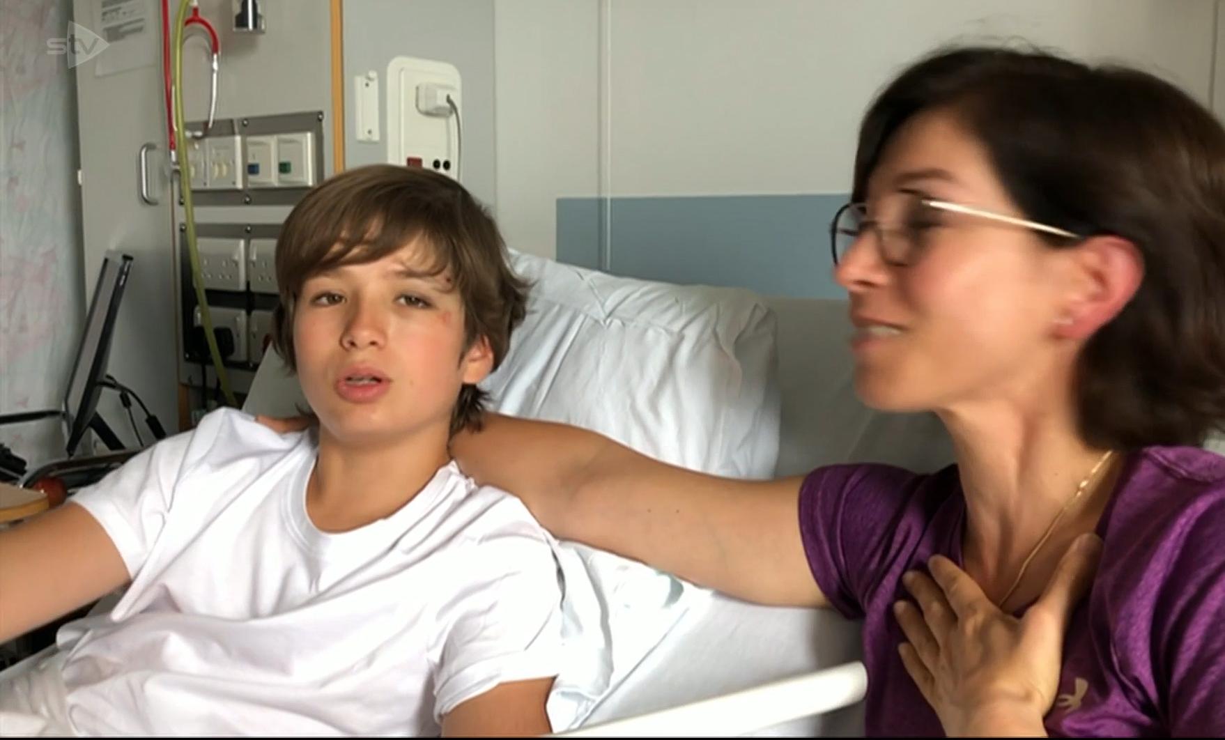 Arthur Borgogno in hospital