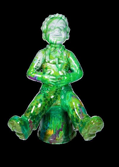 Overgrown Wullie Statue