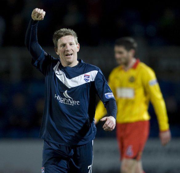 Ross County v Partick Thistle  Irn-Bru Scottish Football League Division One Michael Gardyne celebrates scoring Ross Counties 3rd goal