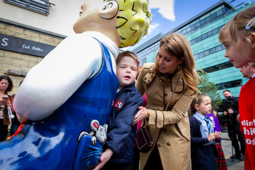 Oor Wullie with HRH Princess Beatrice.