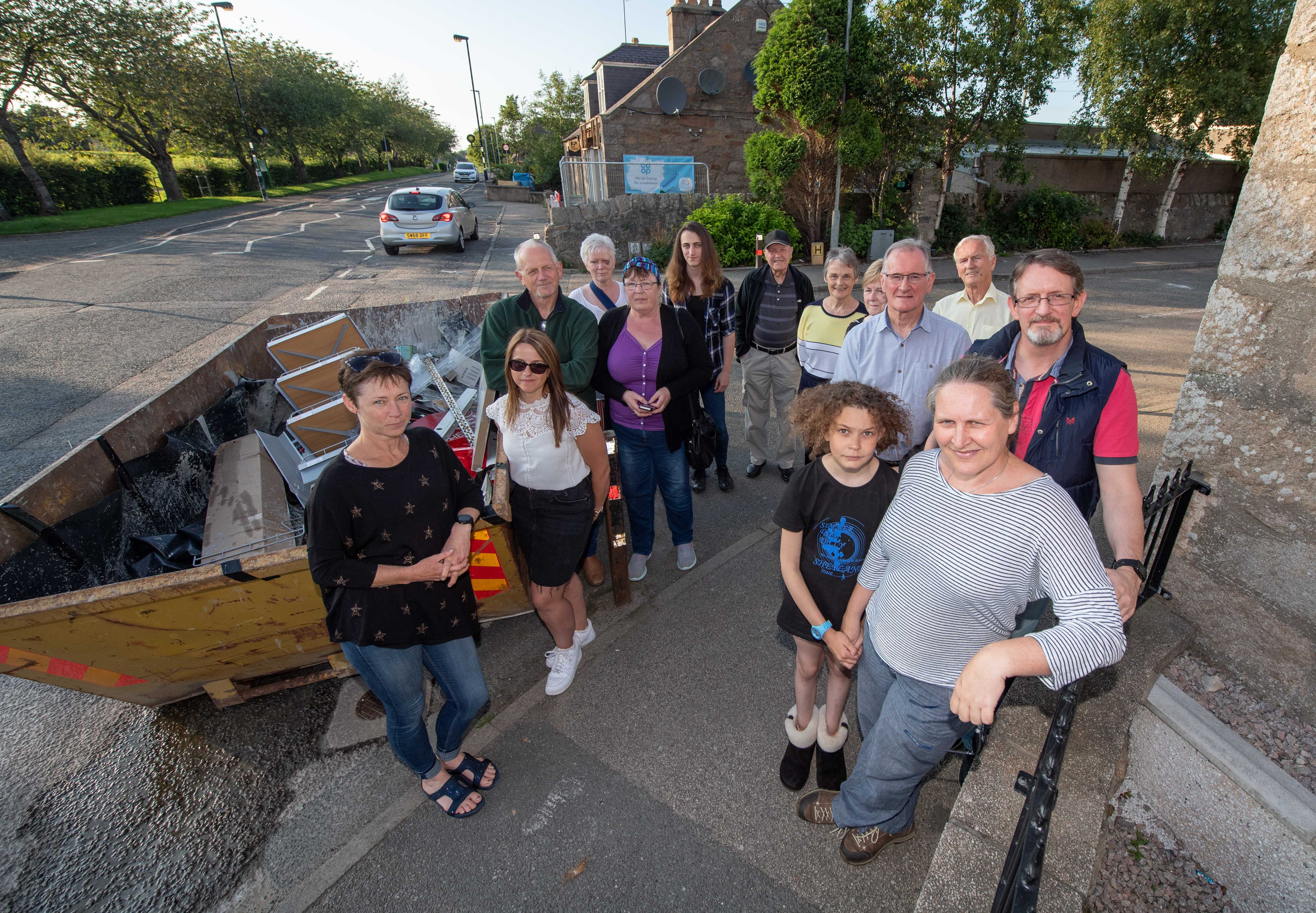Residents of the village of Pitmedden are raising safety concerns over the proposed opening of the junction in the middle of the village due to new housing development.