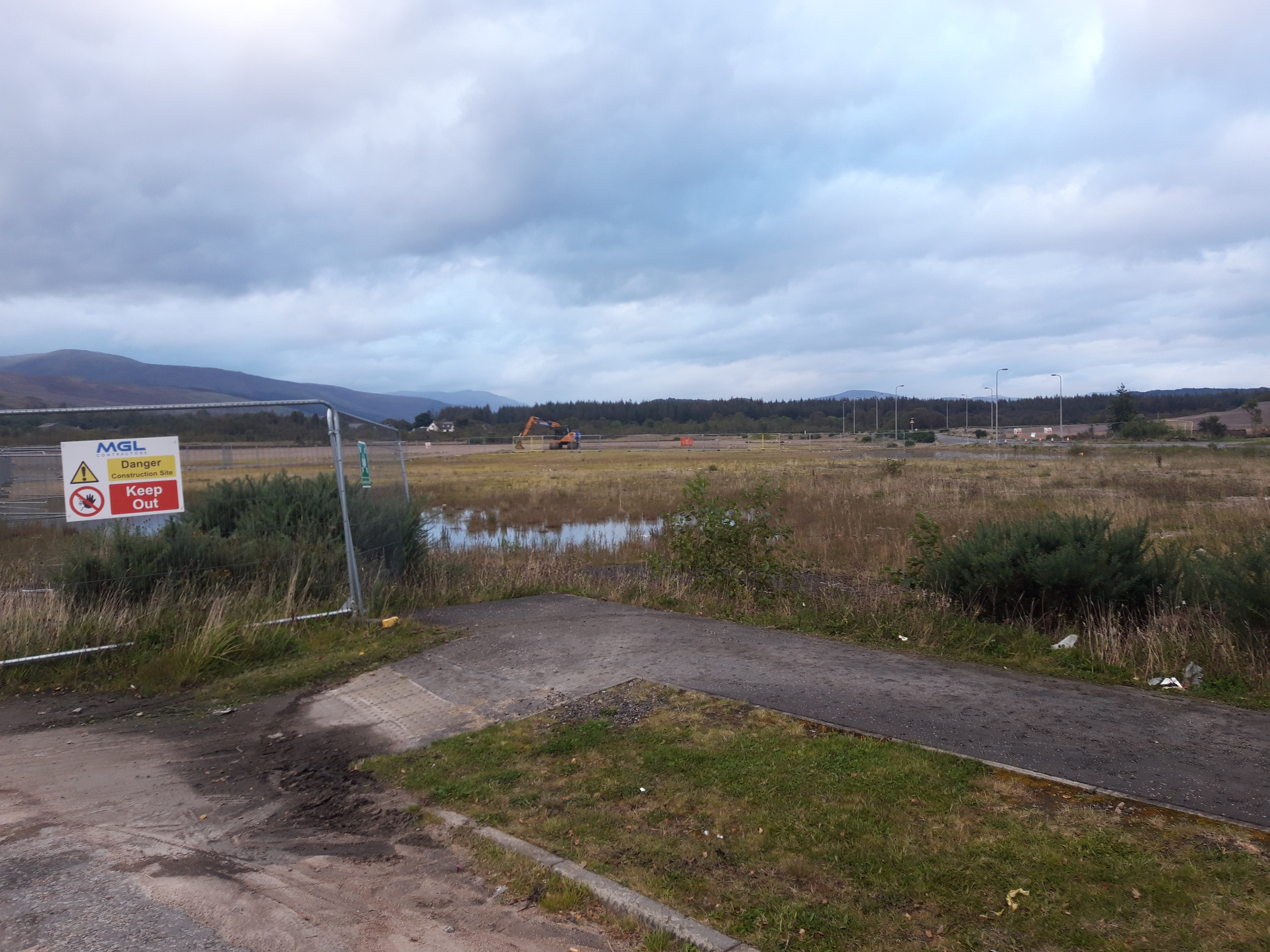The site of the new Belford hospital where the helipad would be built