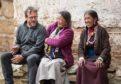 Gavin with Namdak Lama and Chainga Rokaya at Trasung Choeling Gompa