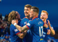 Inverness' Nikolay Todorov celebrate his goal with teammates during the Ladbrokes Championship tie between Inverness CT and Greenock Morton,