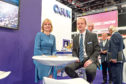 • Photo taken today at Offshore Europe, P&J Live Aberdeen with OGUK Chief Executive Deirdre Michie and report author, OGUK Market Intelligence Manager Ross Dornan