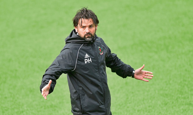 Cove manager Paul Hartley. Picture by COLIN RENNIE