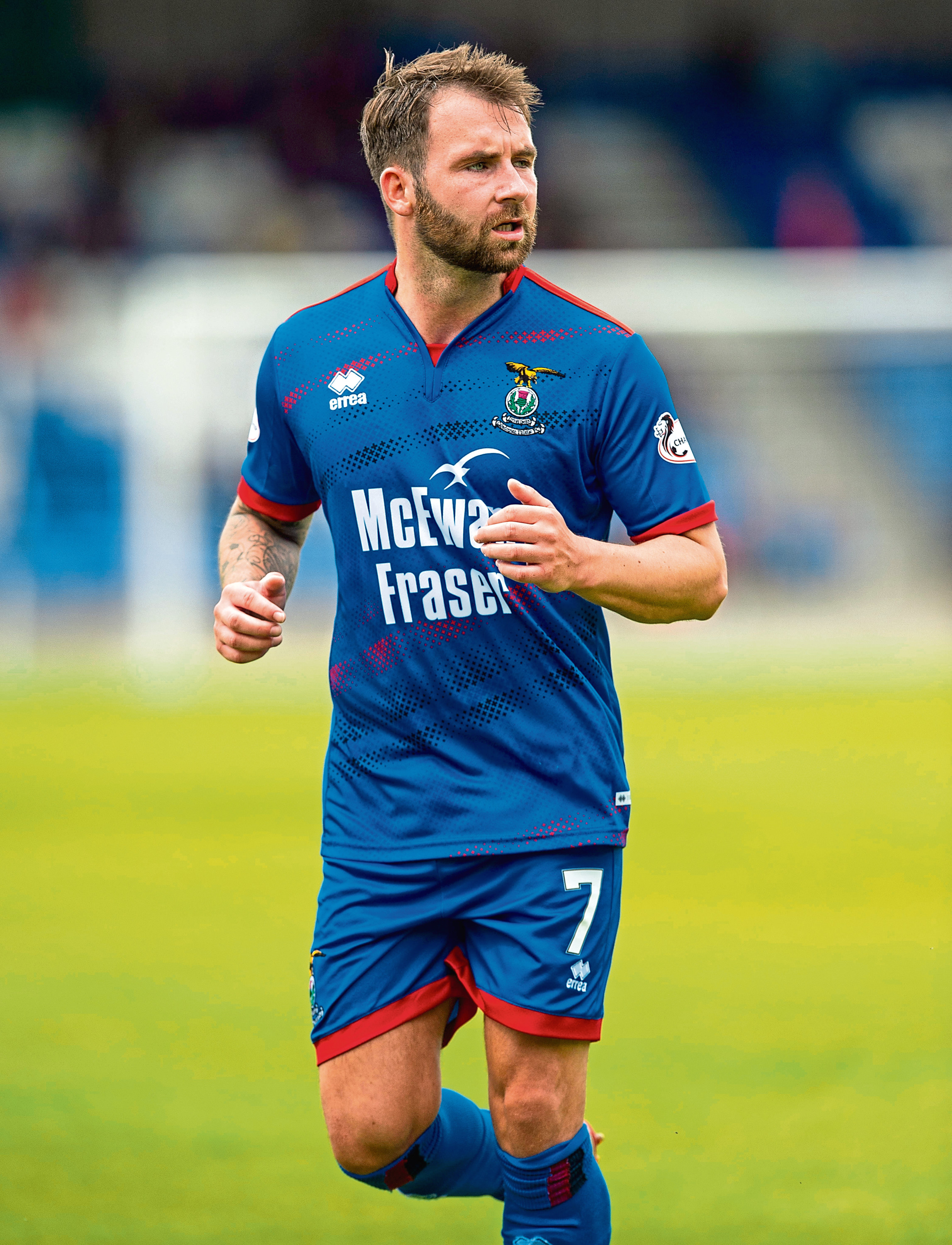 20/07/19 BETFRED CUP GROUP D INVERNESS CT v RAITH ROVERS (4-1) TULLOCH CALEDONIAN STADIUM - INVERNESS James Keatings in action for Inverness
