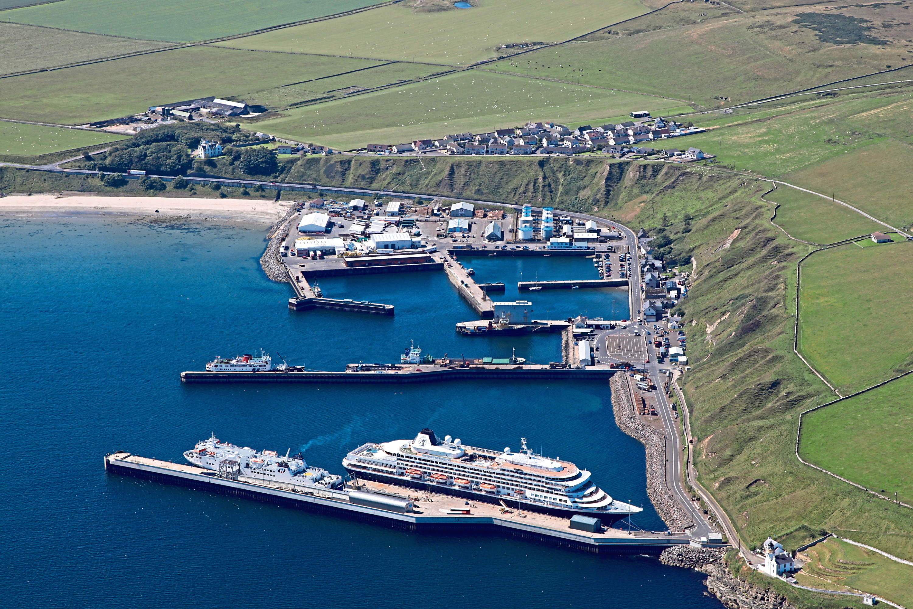 Cruise ship at Scrabster Harbour.    Scotland's most northerly mainland commercial port, Scrabster Harbour, has said bon voyage to its last scheduled cruise ship of the 2015 season.    The harbour, which is a multi-purpose port based in Caithness, welcomed six cruise ships throughout the summer bringing in passenger numbers of more than 3,200 to the area. Amadea, a 29,008 tonne cruise ship arrived in the harbour on September 8th from Reykjavik, Iceland with 576 visitors eager to visit the north of Scotland before leaving for Bremerhaven, Germany the next day.
