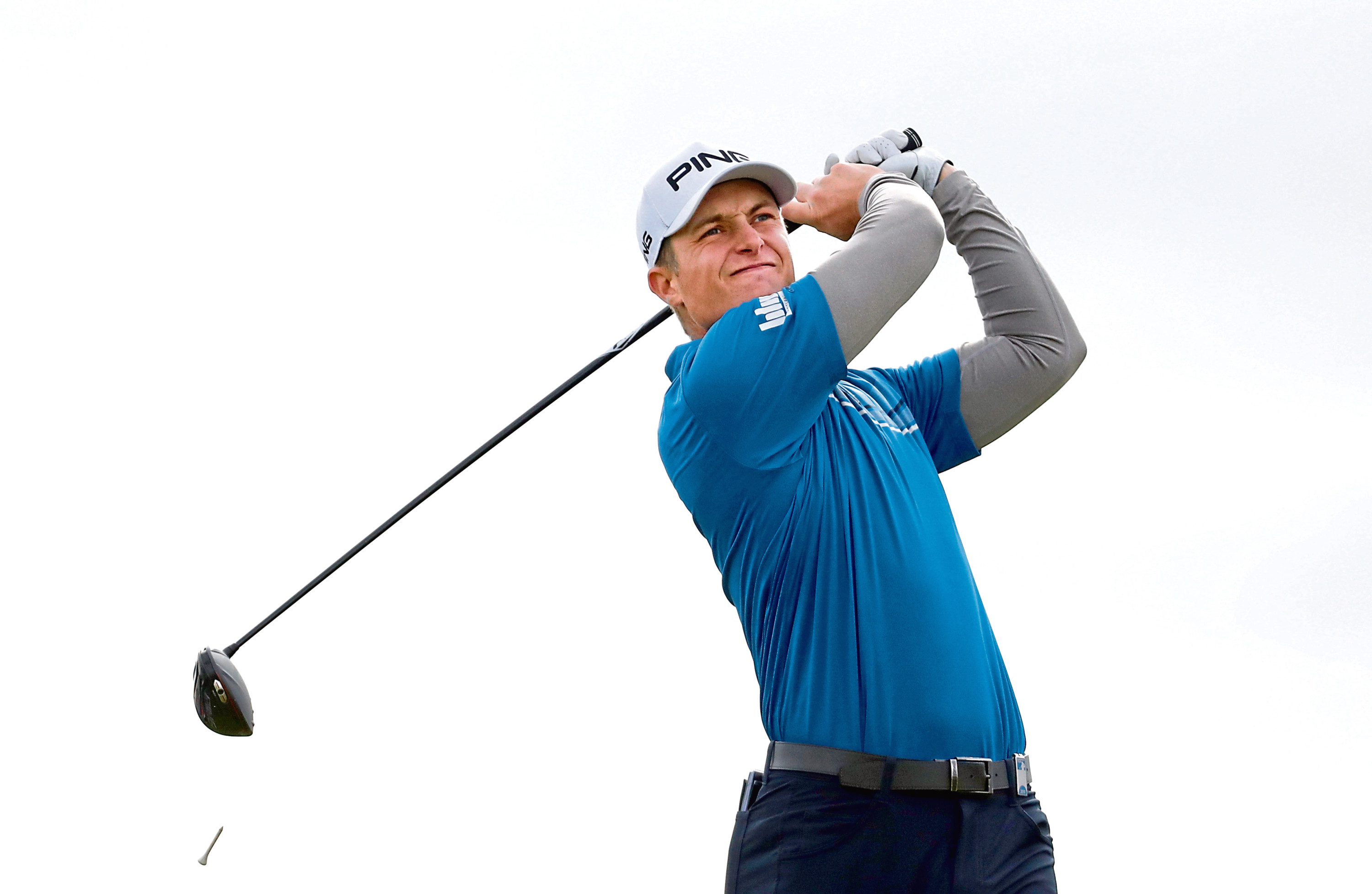 Calum Hill of Scotland tees off on the 6th hole during day two of the Alfred Dunhill Links Championship. (Photo by Matthew Lewis/Getty Images)