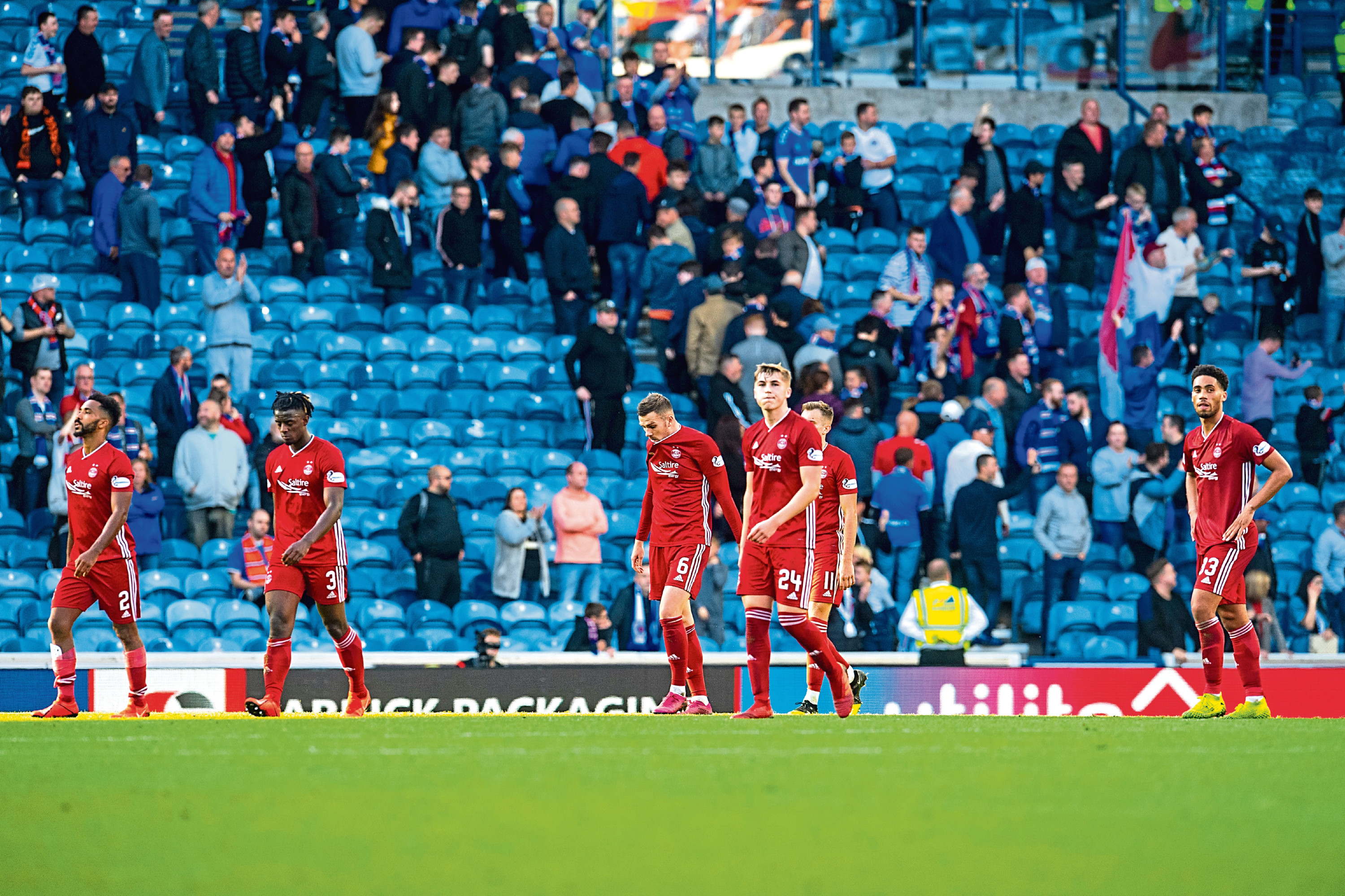 The Dons were beaten heavily in their previous visit to Ibrox earlier in the season.