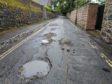 Potholes along The Chanonry