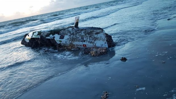 The boat washed up in Uist photo: Dawn Steele