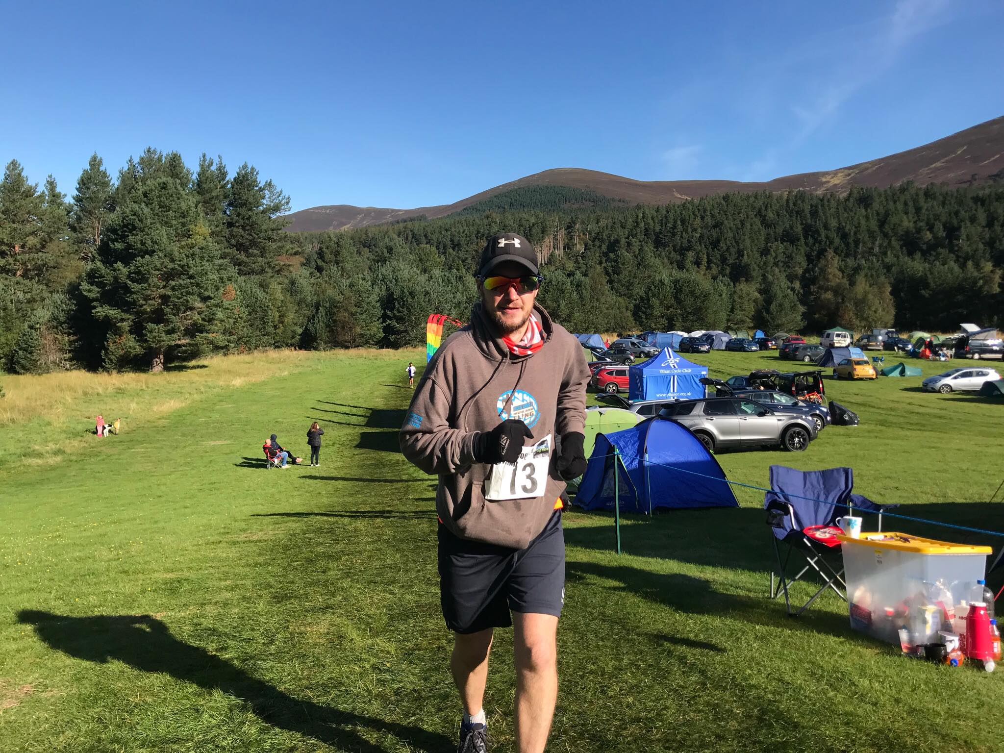 Ross Beveridge running the Glenmore 24 for Until Every Dog Has a Home