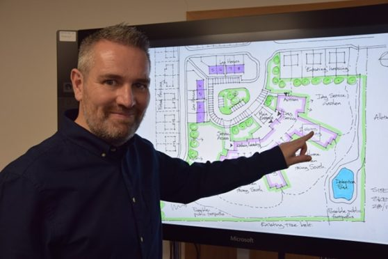 Aberdeenshire Health and Social Care Partnership north manager Mark Simpson presenting the proposed Care Village plans