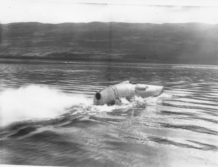 Mr Cobb had accelerated across the Loch at over 200 miles per hour.