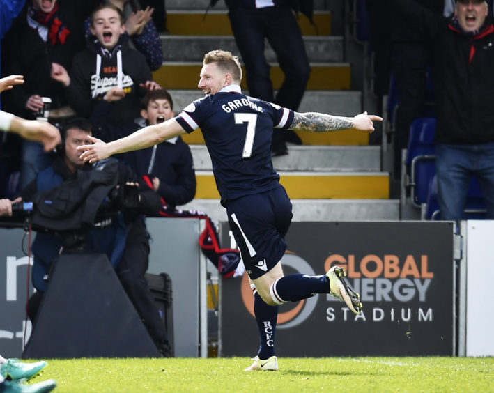 Ladbrokes Championship Ross County v Celtic Ross County's Michael Gardyne after he scores his side's equaliser (1-1)
