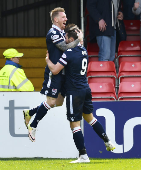 Ladbrokes Championship Ross County v Celtic.  Ross County's Michael Gardyne celebrates after he scores his side's equaliser (1-1)