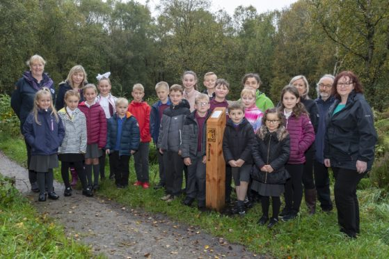 Pupils from Elrick Primary School enjoying the discovery trail.