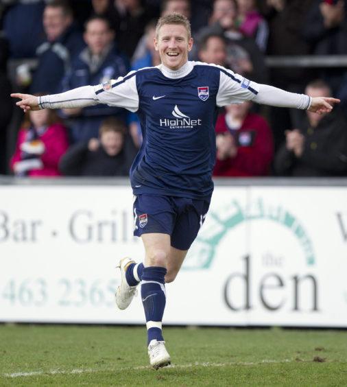 Ross County v Morton Ross County's Michael Gardyne celebrates after scoring the opening goal.