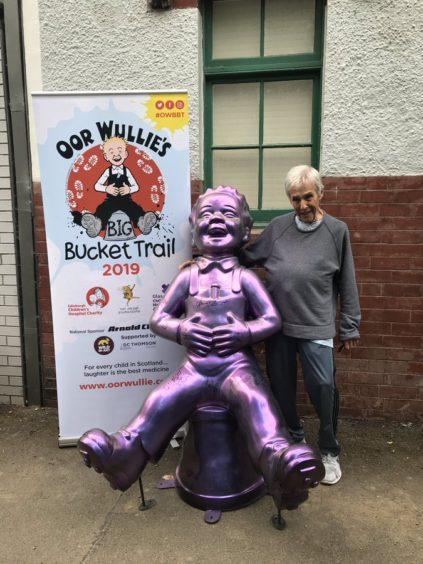 Oor Wullie with Burt Bacarach