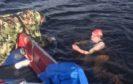 Rosalinda Hardiman swimming the length of Loch Ness on Sunday